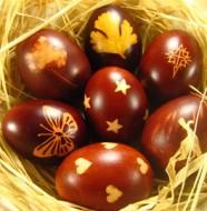 яйца пасхальные крашеные