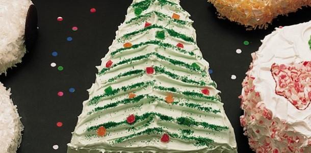 торт новогодняя елка